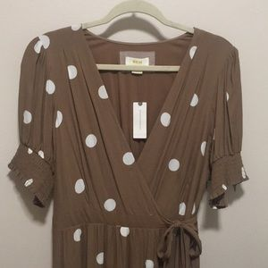 Anthropologie Maeve polka dot dress, size 14